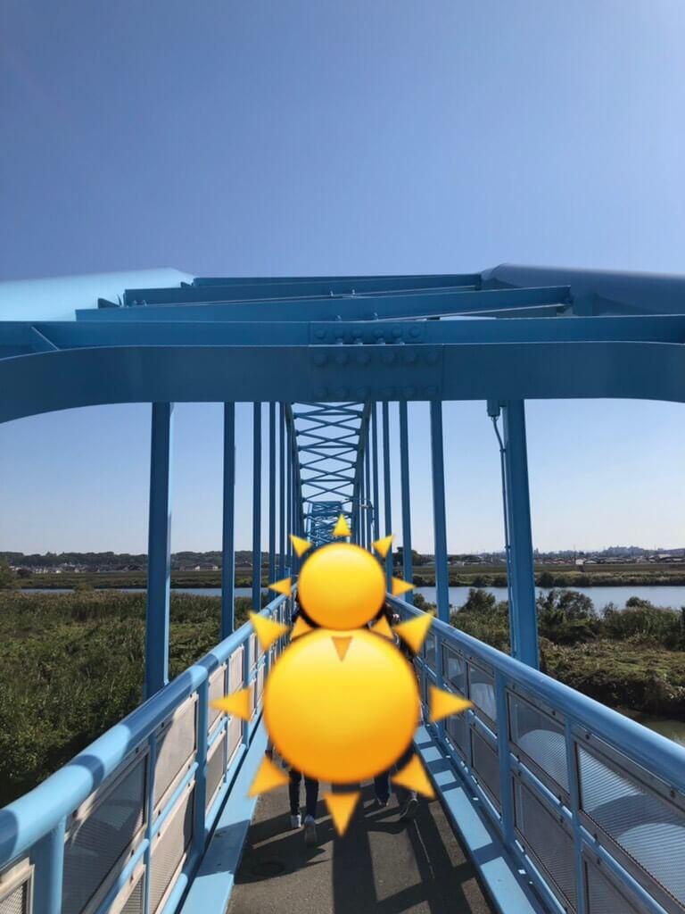 水管橋の上