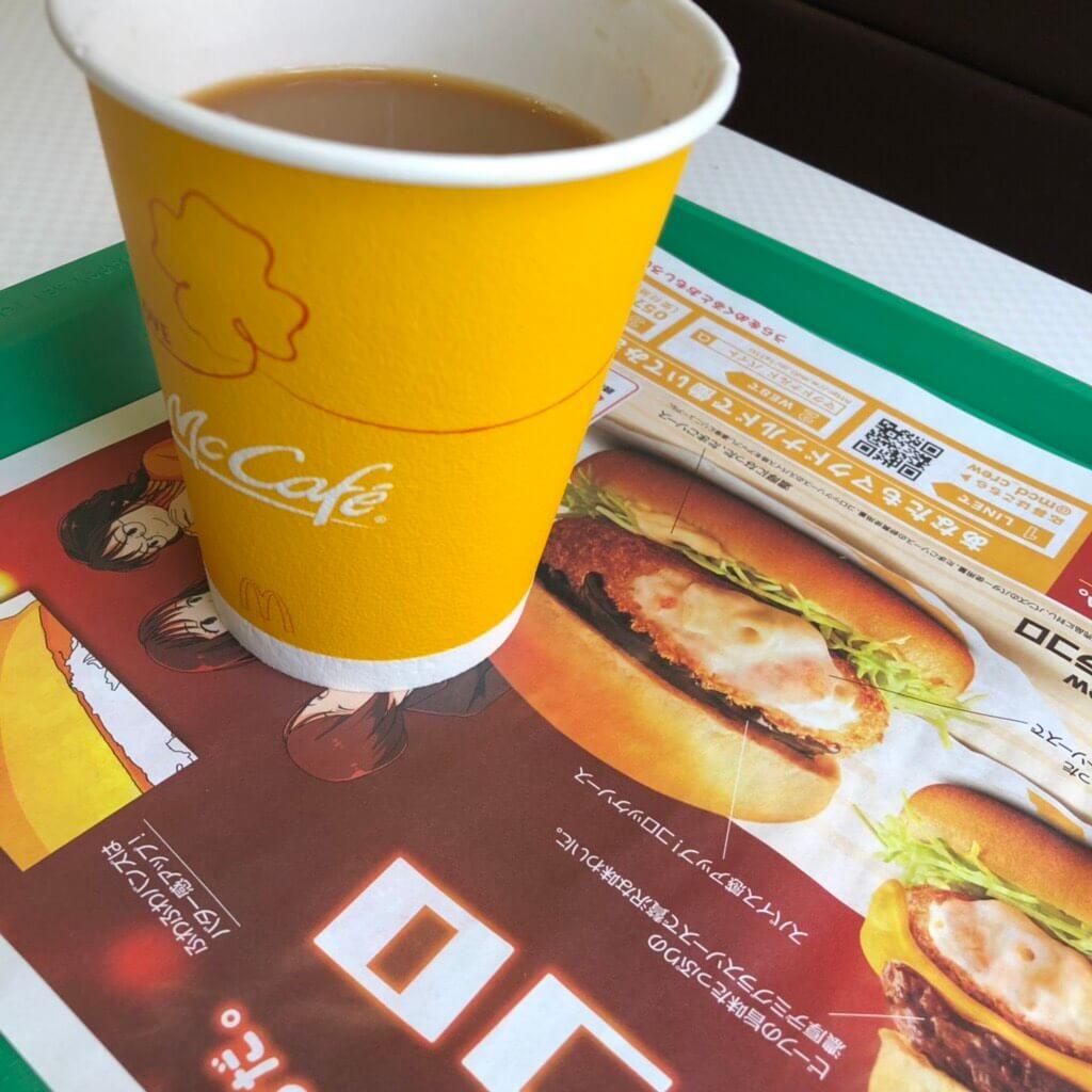 マクドナルドのホットコーヒーM