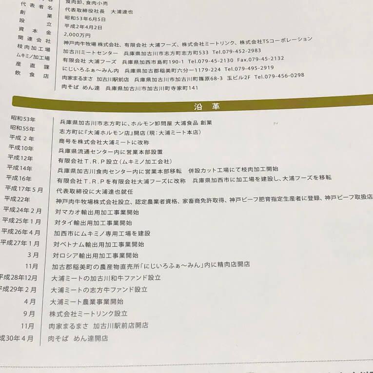 大浦ミート会社沿革