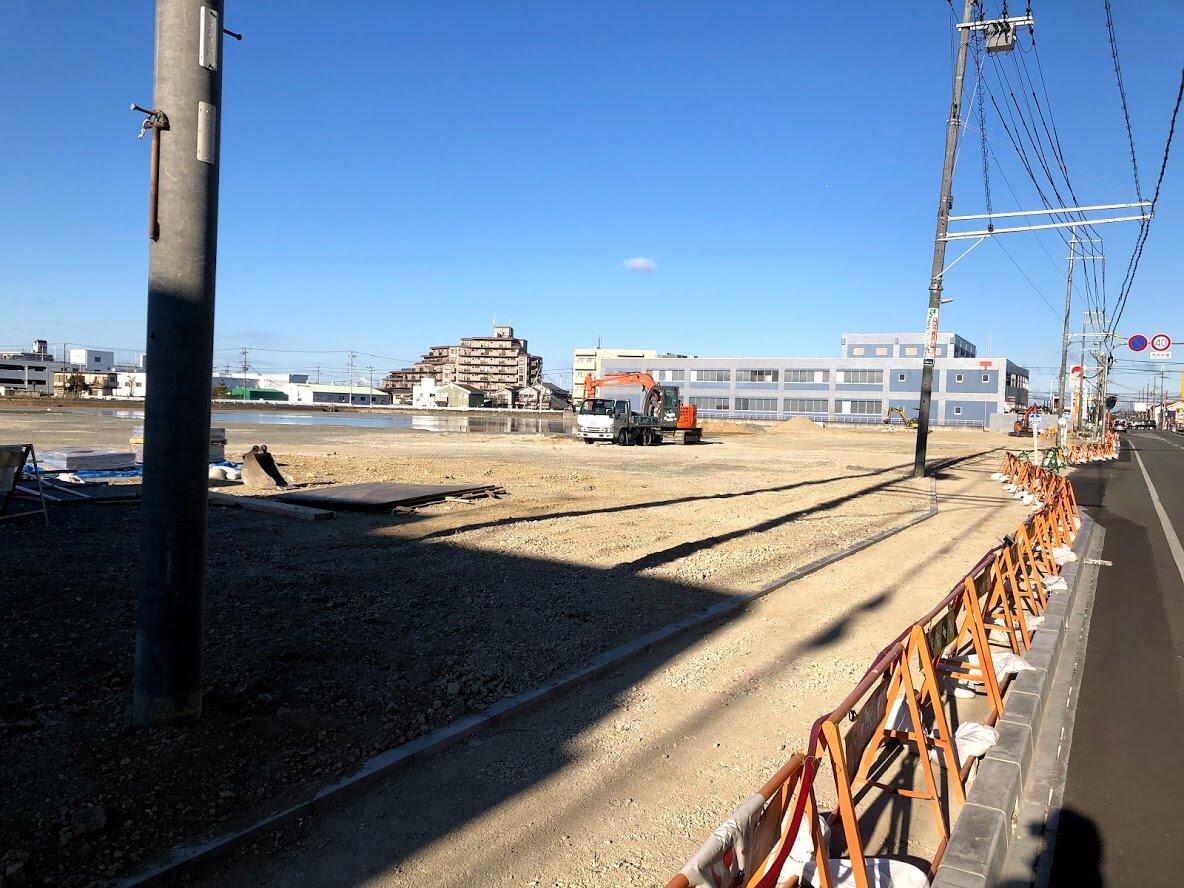 加古川東市民病院跡地の前面道路改良