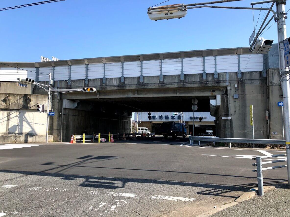 加古川バイパスのトンネル