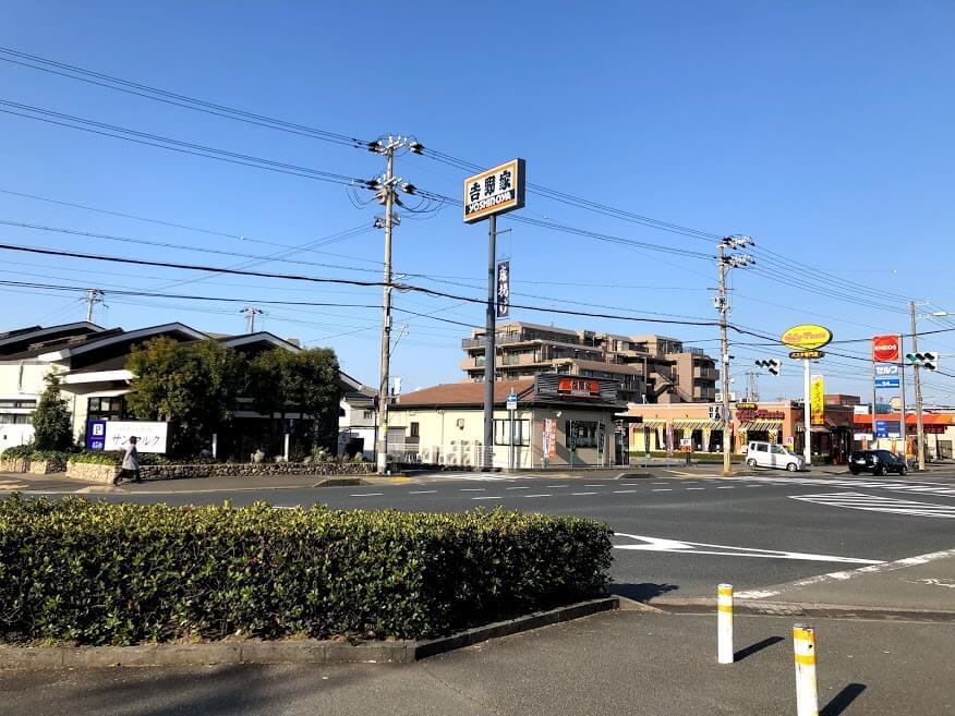 サンマルク加古川店と吉野家加古川平野店
