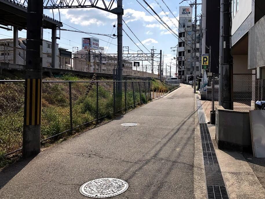 JR東加古川駅近く線路沿い