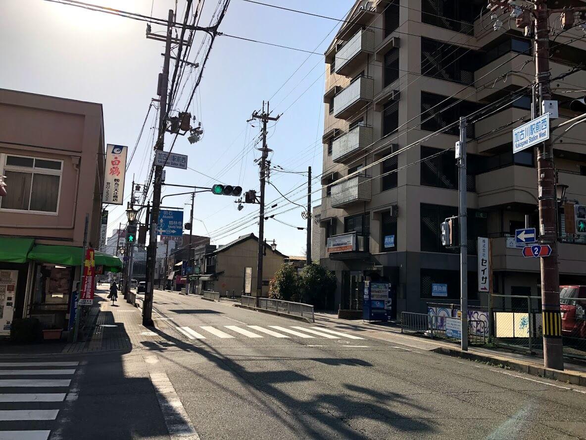 加古川駅前西の交差点