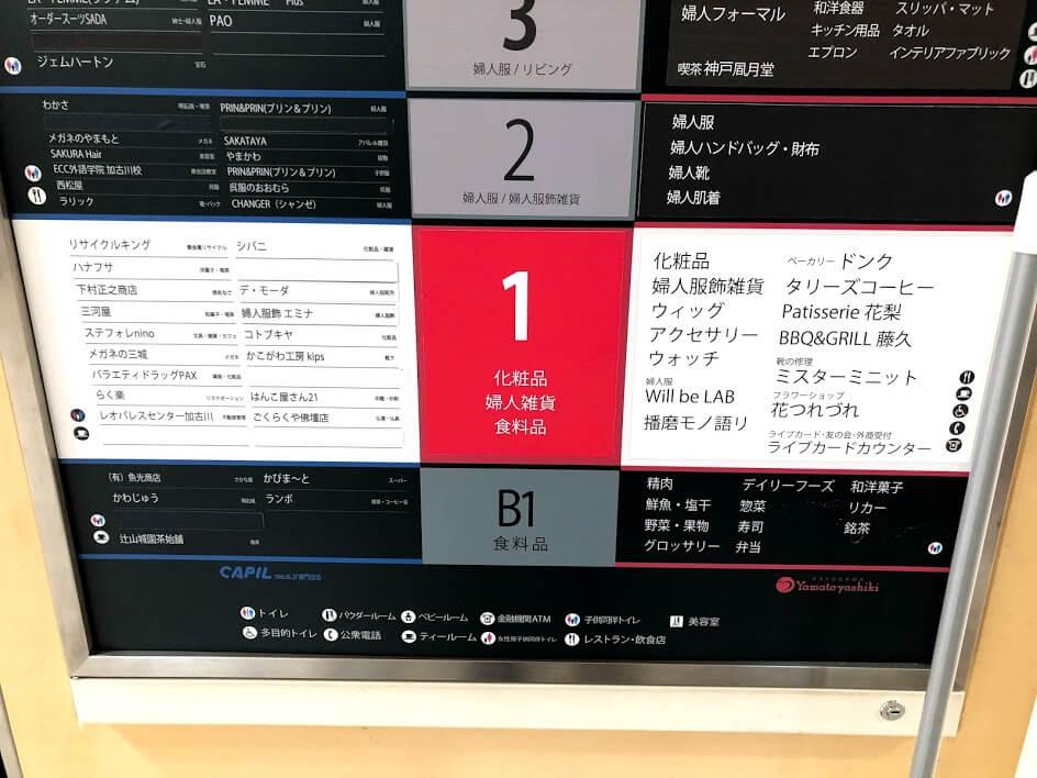 ヤマトヤシキ1階売り場案内