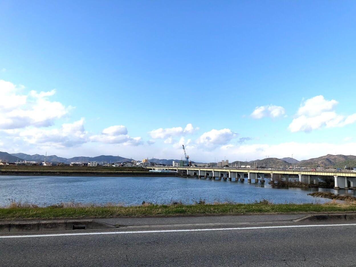 加古川橋の工事の様子