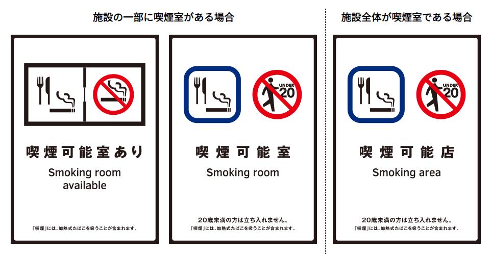 喫煙可能室の標識