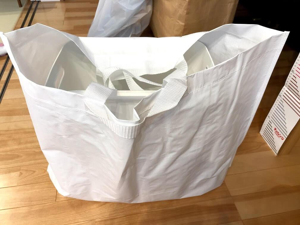 無印良品の再生ポリプロピレンバッグ