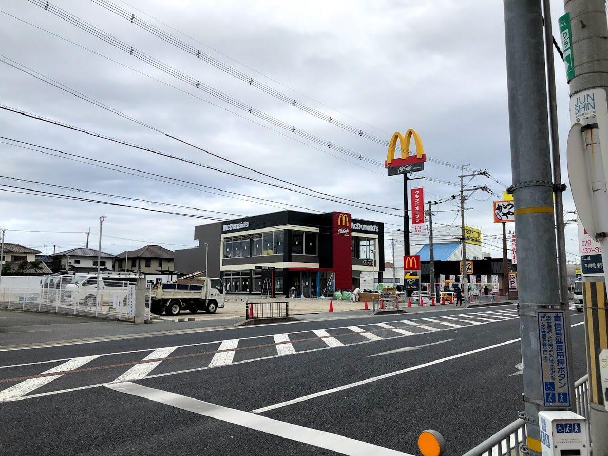マクドナルド加古川店の工事の様子