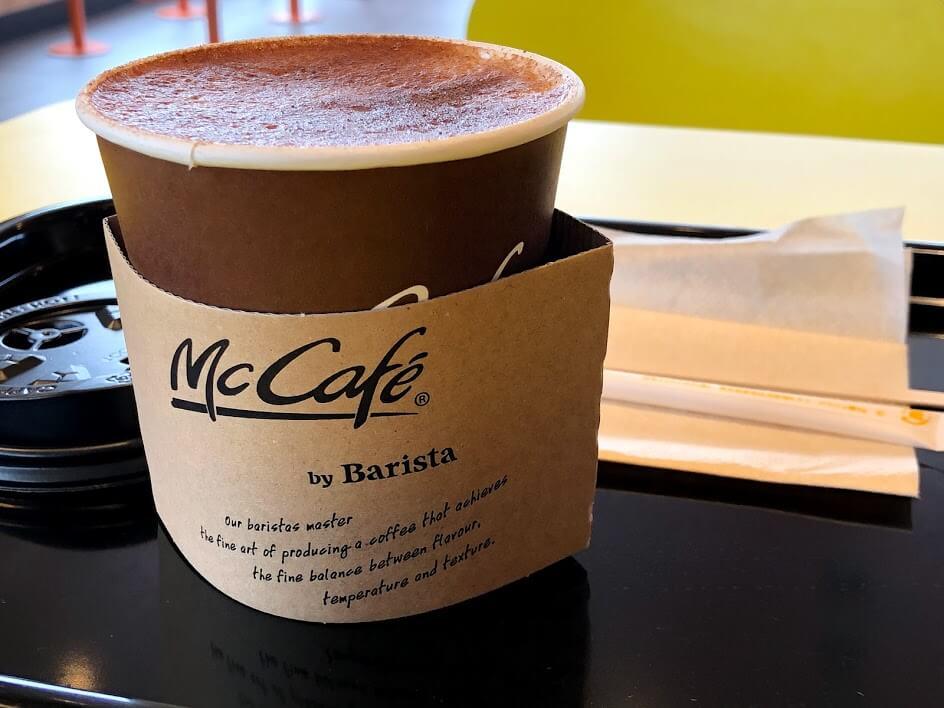 マックカフェのカプチーノ