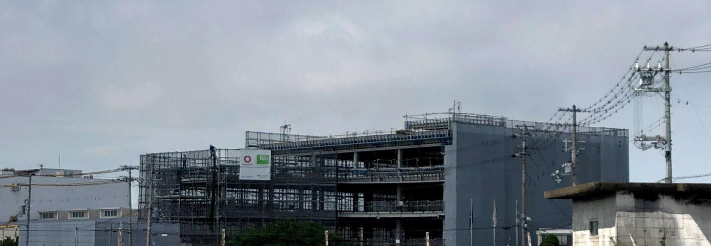 2国から見たオークラの本社工事の様子