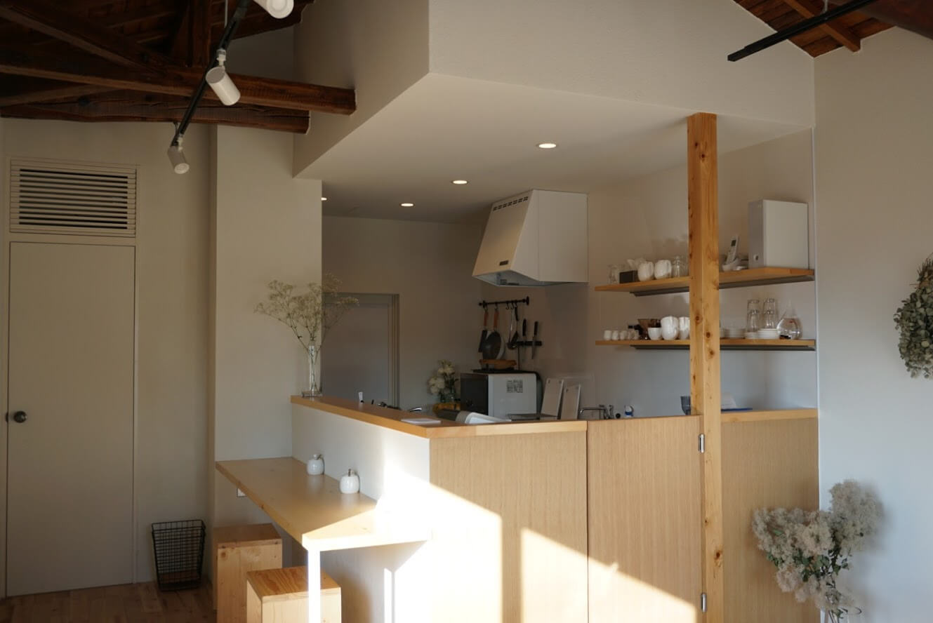 geckoのカウンターとキッチン