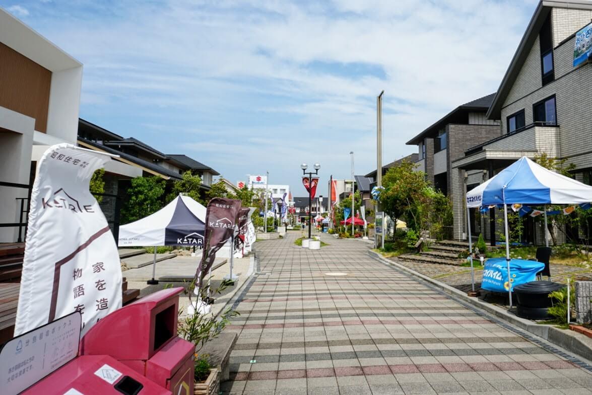 神戸新聞ハウジングセンター加古川会場モデルハウスの様子