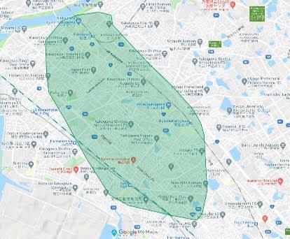 ウーバーイーツの兵庫県加古川市の対応エリア