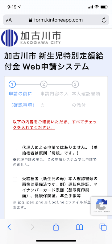 加古川市新生児特別定額給付金Webシステム
