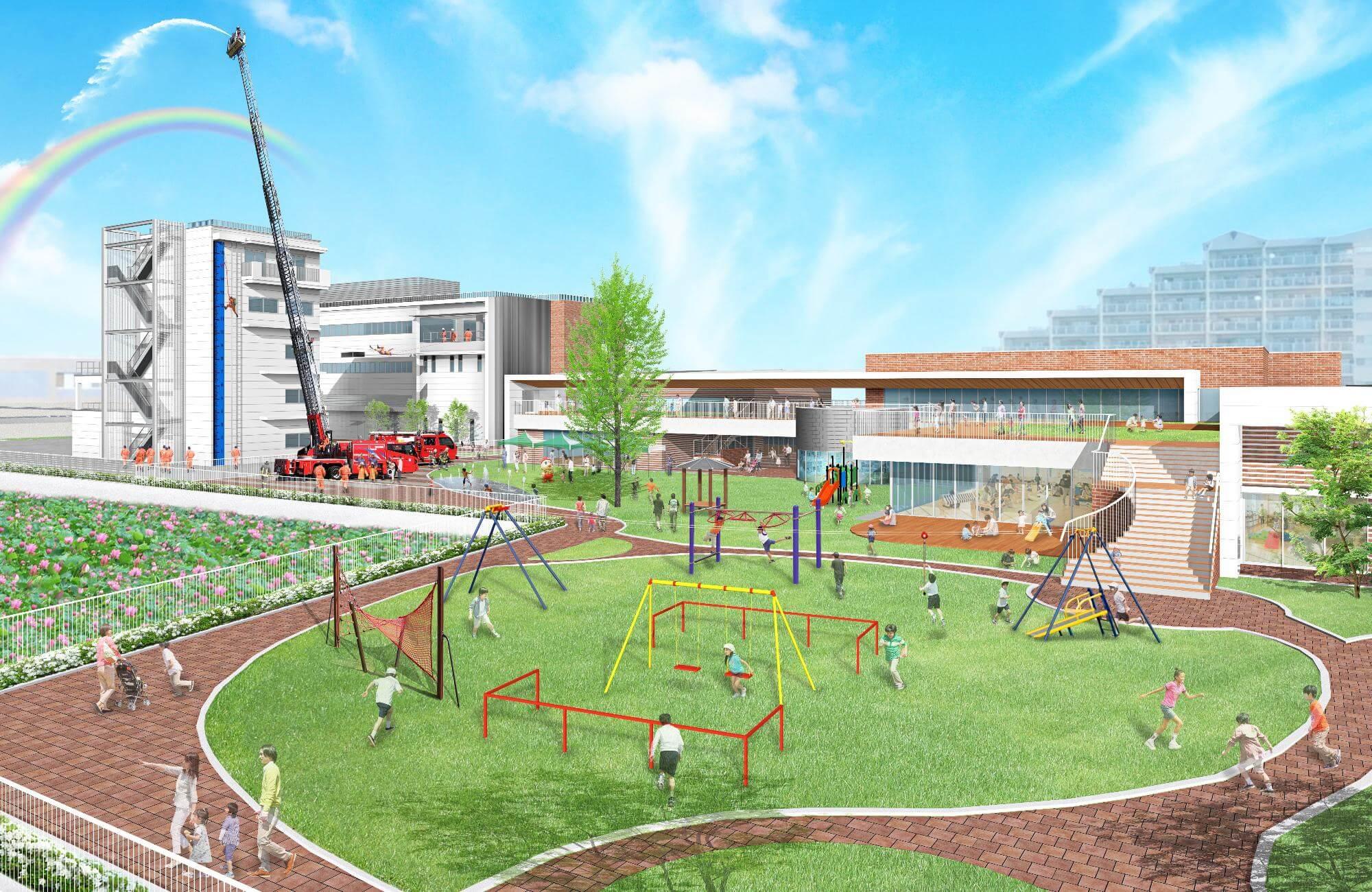 加古川東市民病院跡地の新施設イメージ図
