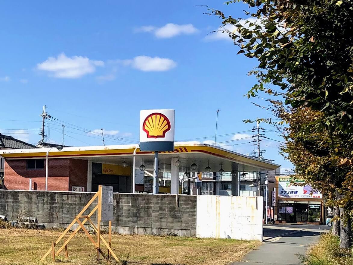 昭和シェル加古川南と(仮称)サンドラッグ加古川店の建設予定地