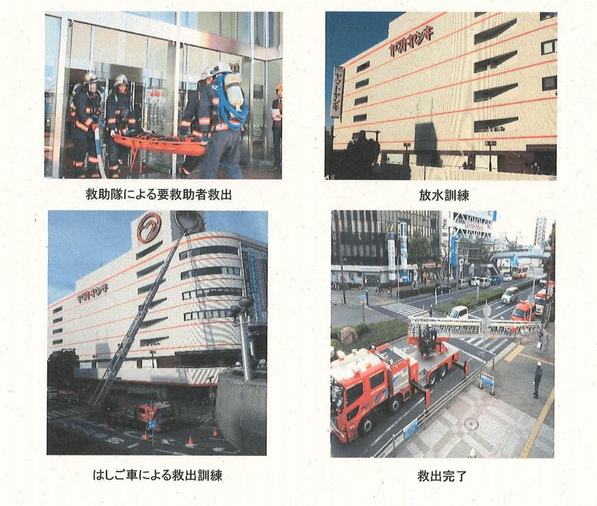 令和元年度のカピル21での消防訓練の様子