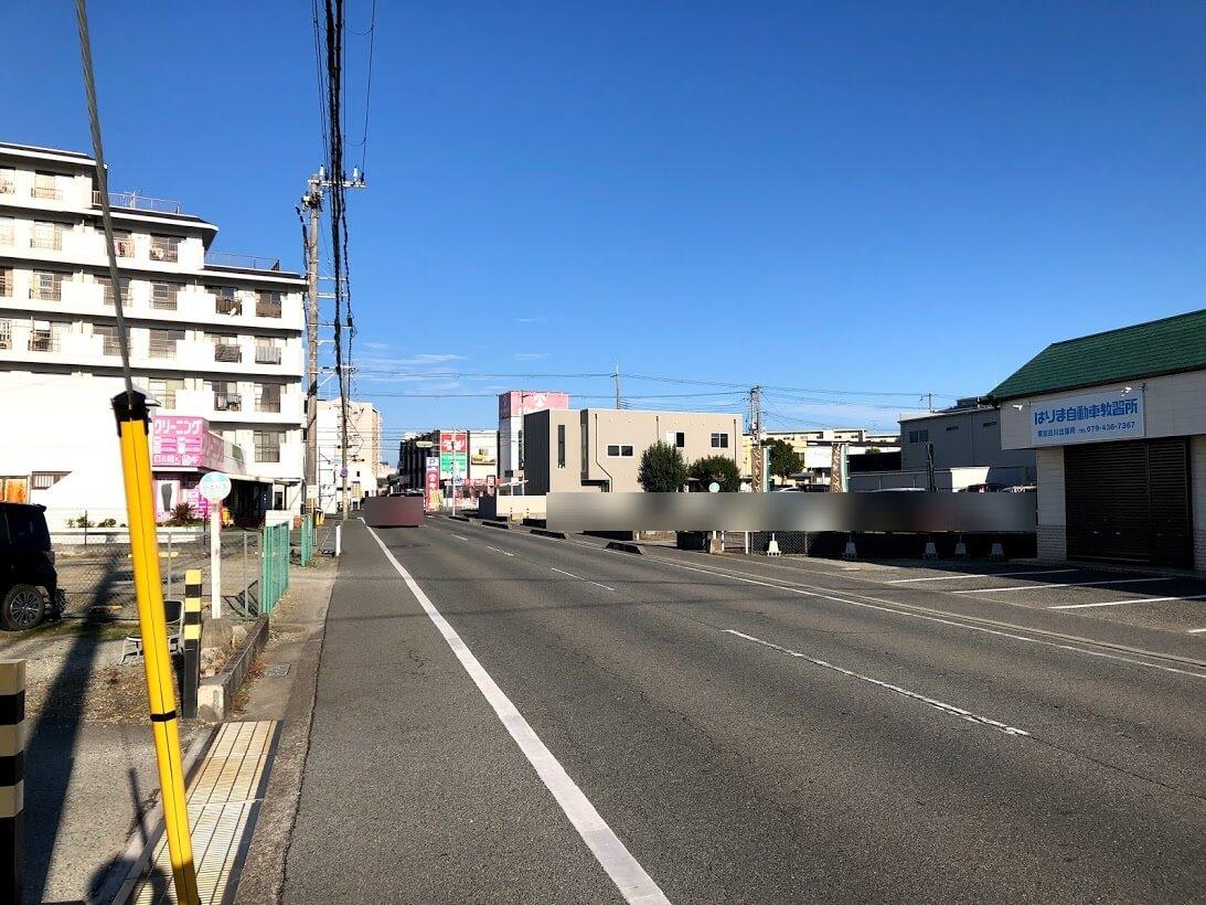 はりま自動車教習所東加古川出張所から西側を見た様子
