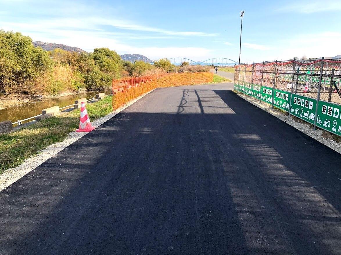 加古川河川敷マラソンコース迂回路