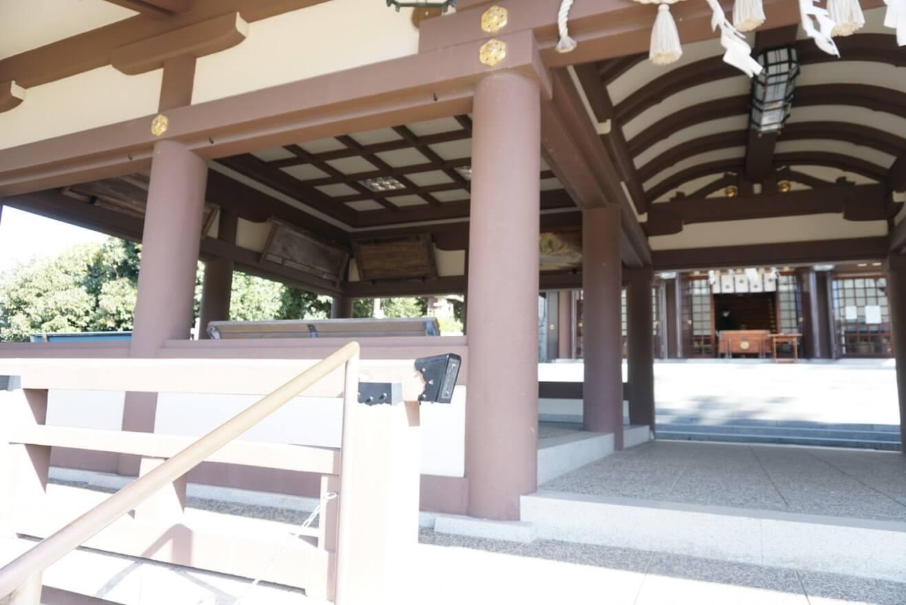 日岡神社お参りの待機所