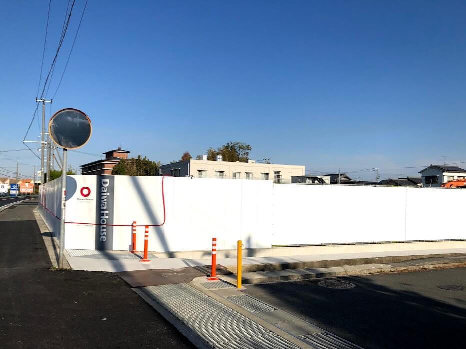 (仮称)ネッツトヨタ兵庫加古川平岡店の新築工事の様子