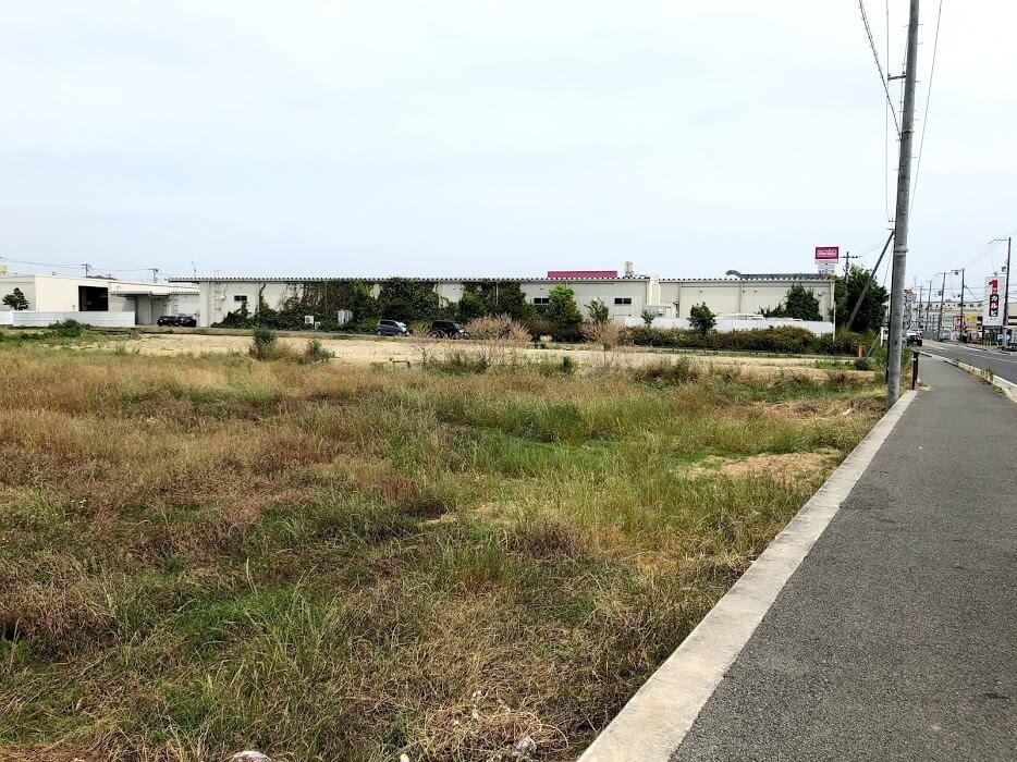 (仮称)ネッツトヨタ兵庫加古川平岡店の工事前の様子
