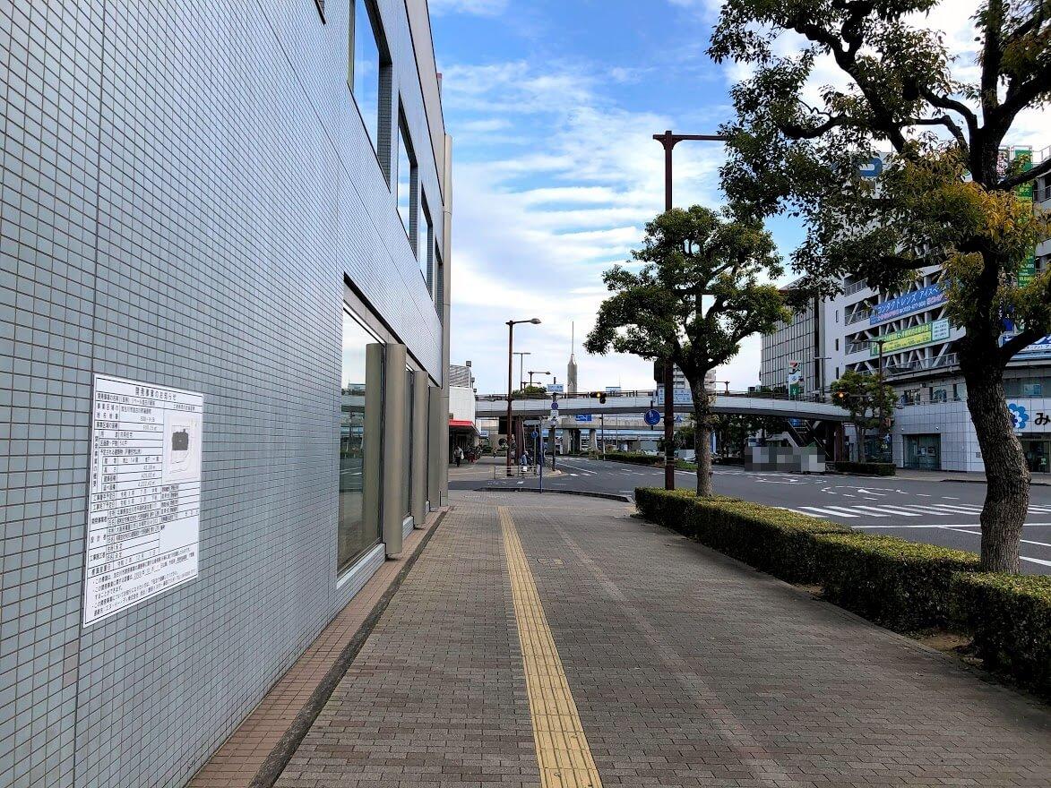 (仮称)リベール加古川駅前から加古川駅南交差点を見たところ