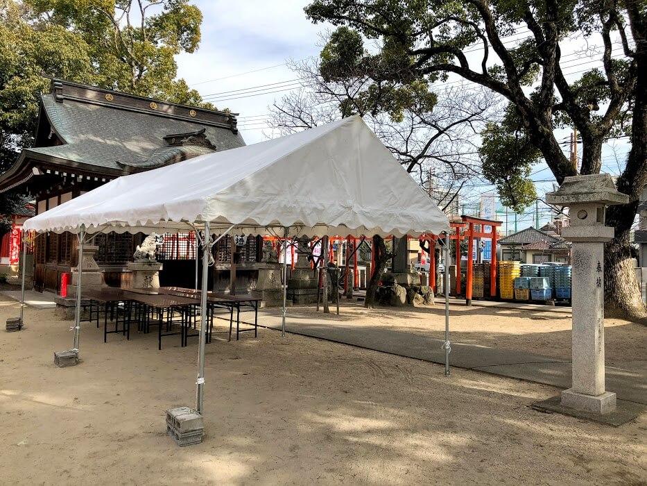 加古川戎神社の十日ゑびす準備の様子