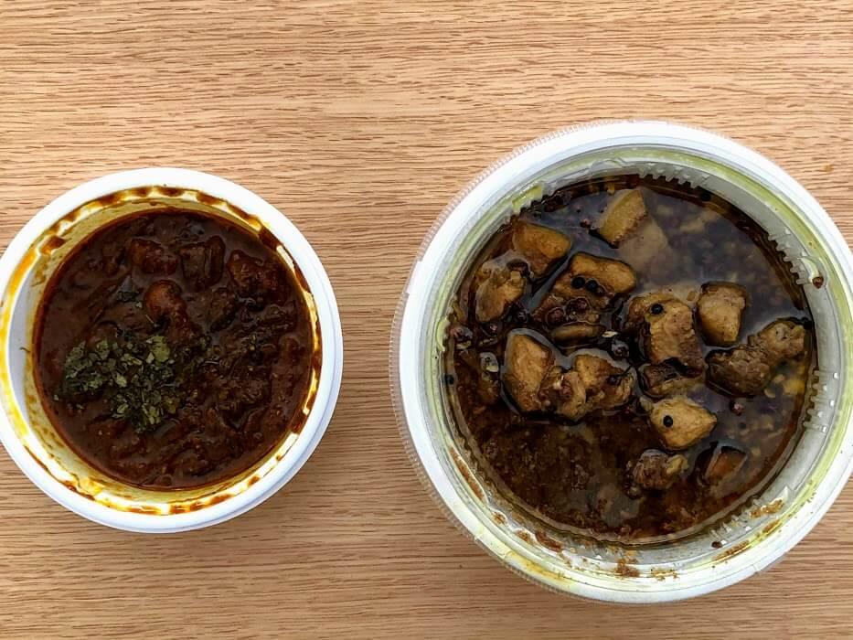 カリースタンド加古川の角煮カレーと薬膳ベジカレー