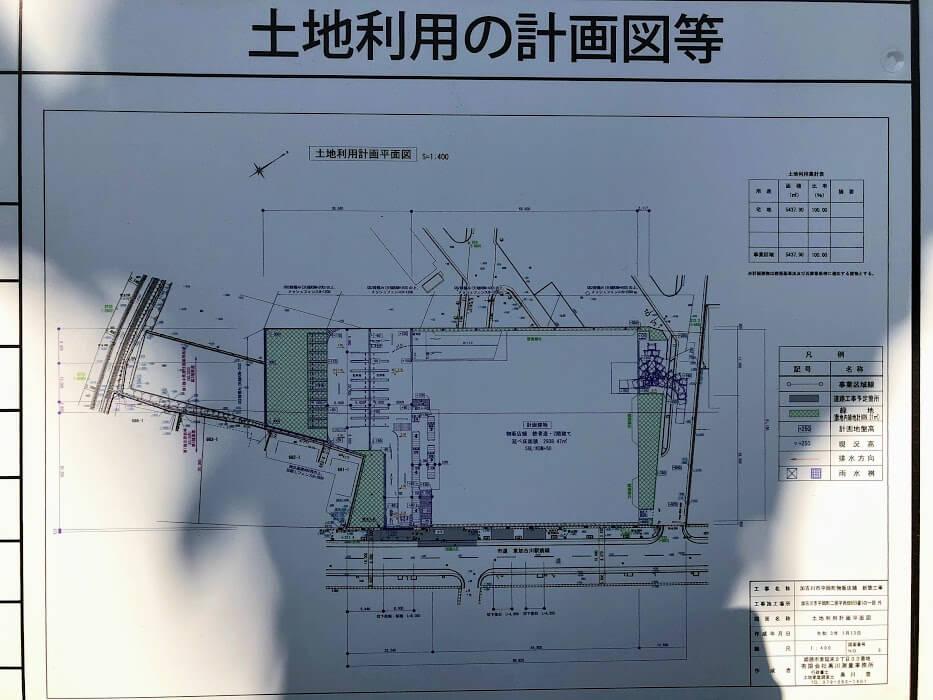 スーパーマルハチ新店舗の図面