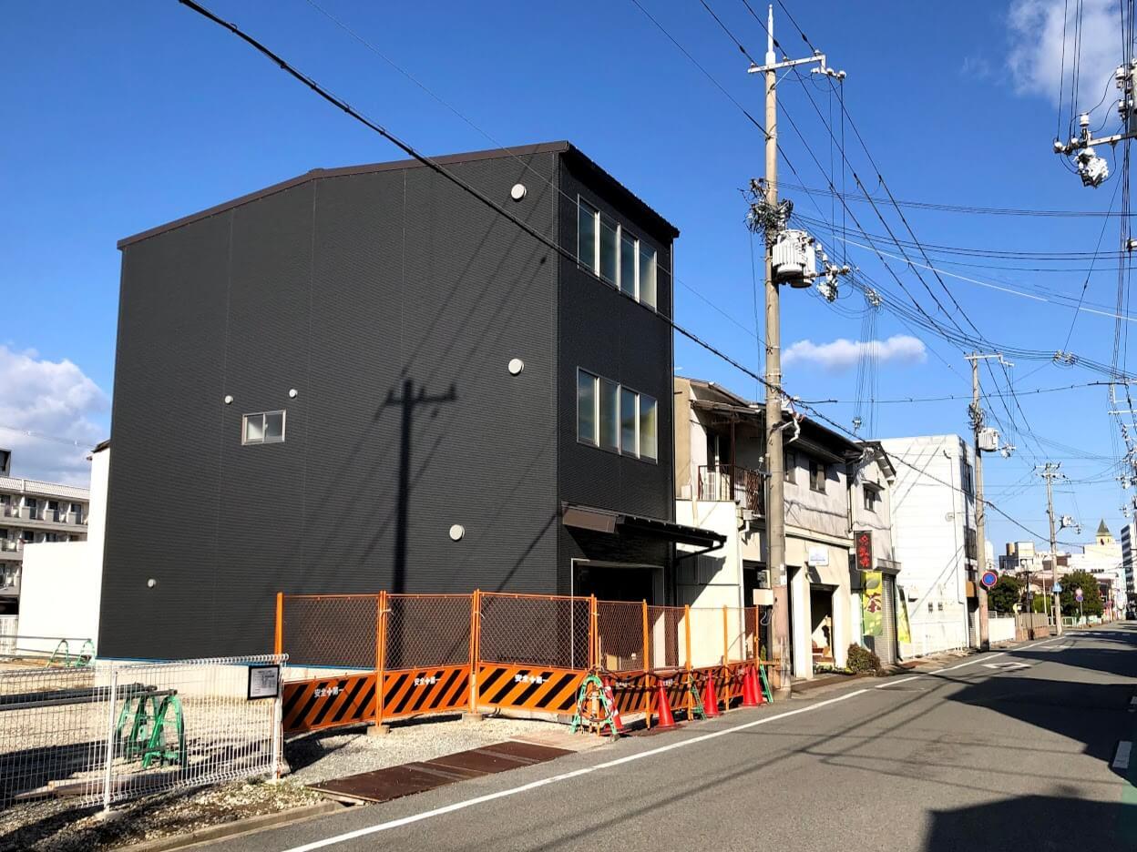 喜倉堂 東加古川本店の移転先新築店舗工事の様子