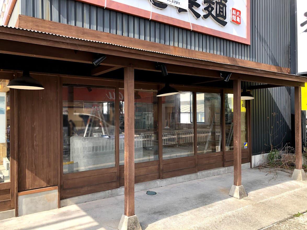 丸亀製麺東加古川店店内工事の様子
