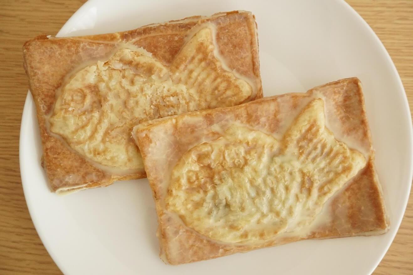ミルクバターで仕上げた「贅沢」クロワッサン鯛焼き2種類