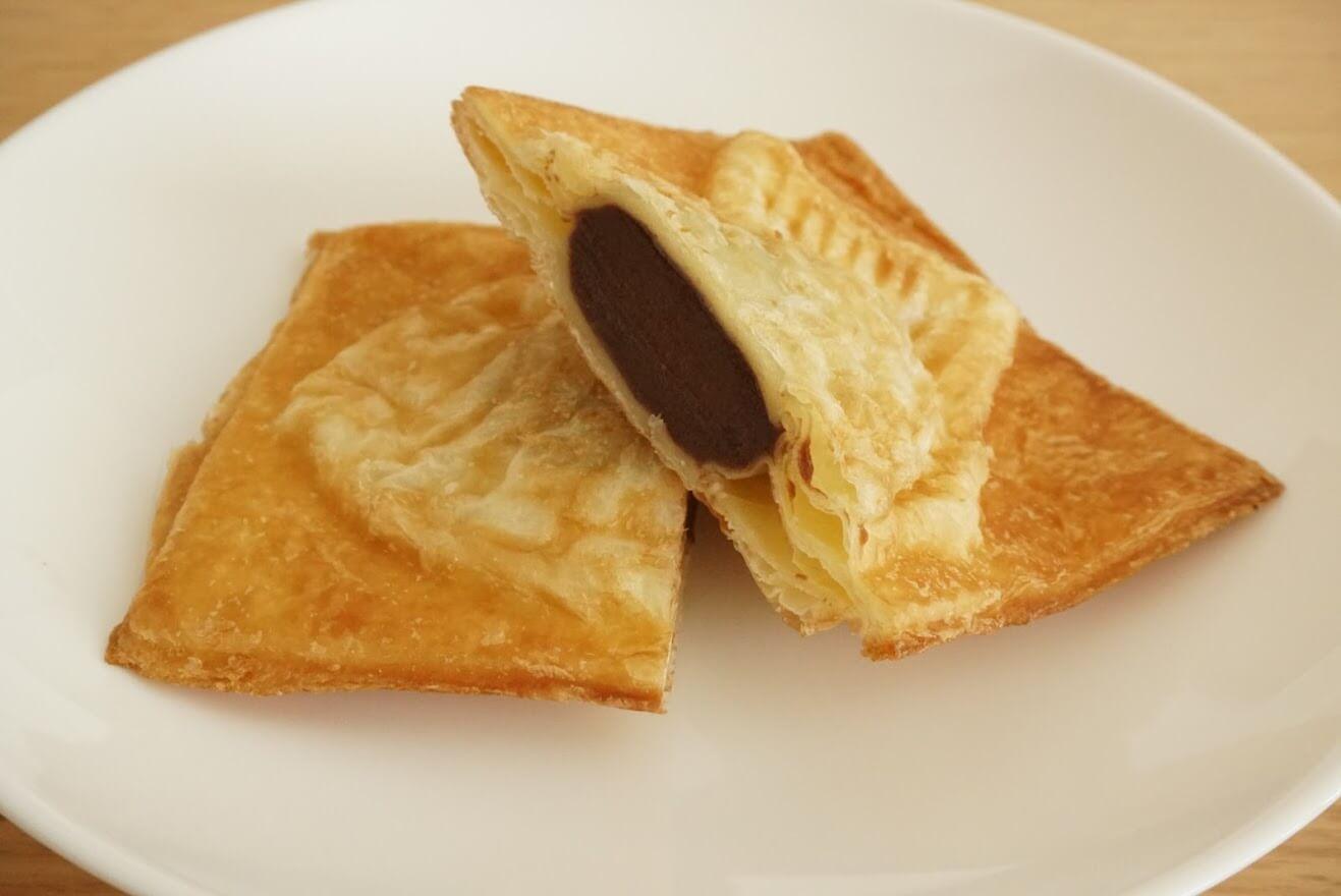 クロワッサン鯛焼きチョコレートの断面図