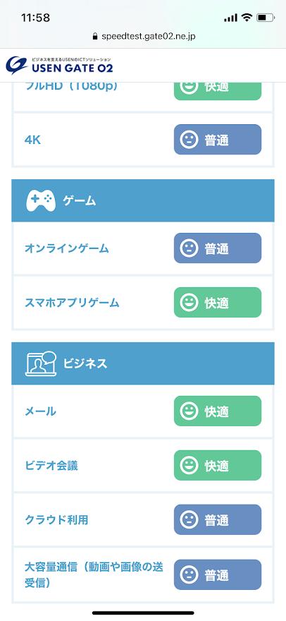 加古川フリーWi-Fiのスピードテスト結果2