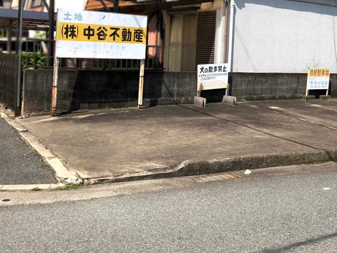 中谷不動産の看板