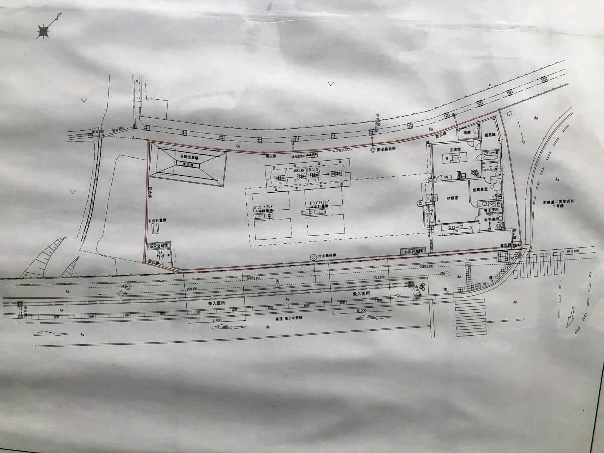 良野給油所土地利用の計画図