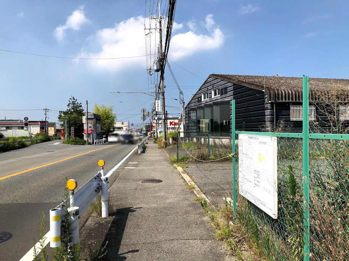スギ薬局加古川野口店の予定地から南を見たところ