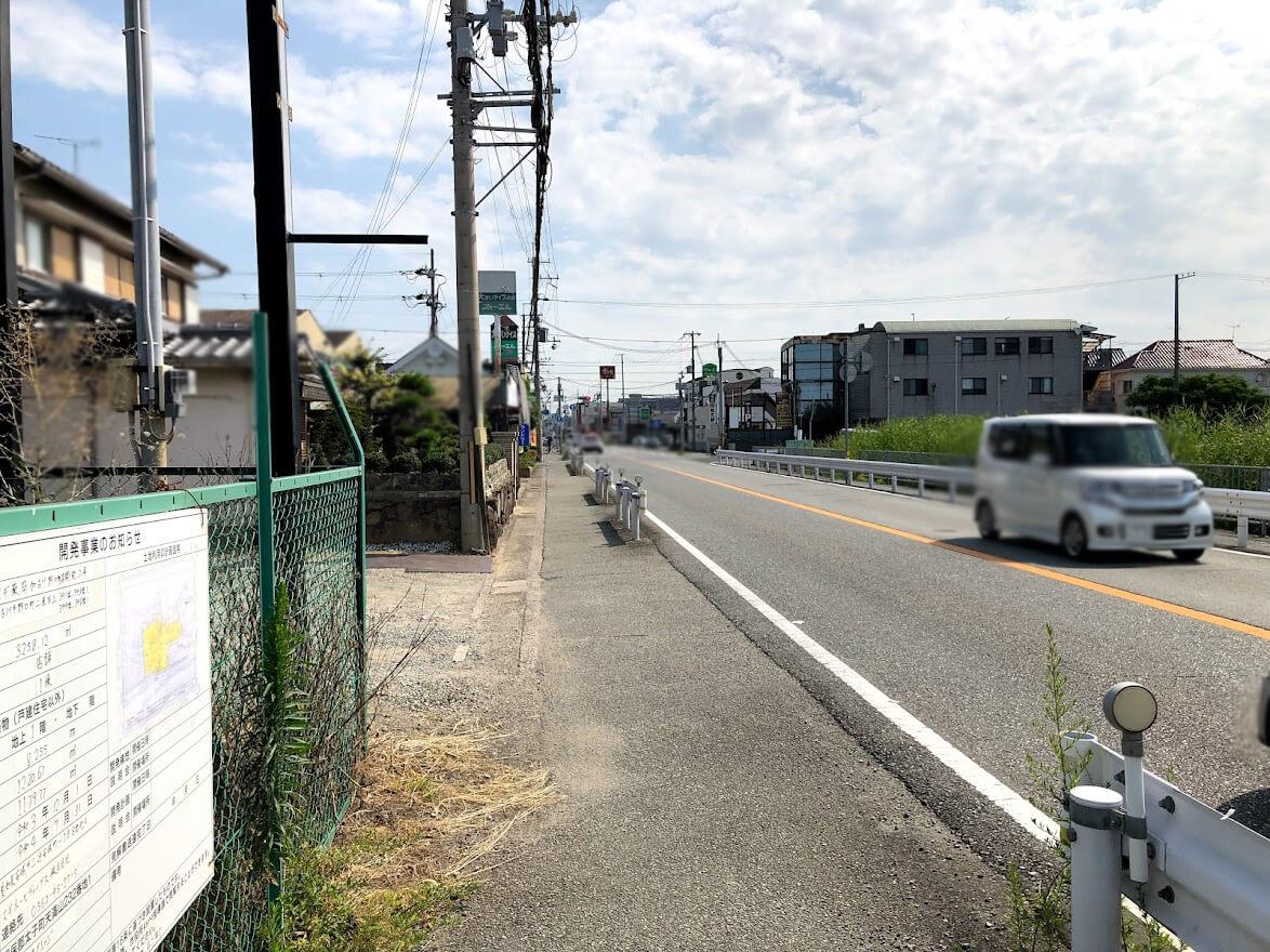 スギ薬局加古川野口店から北を見たところ