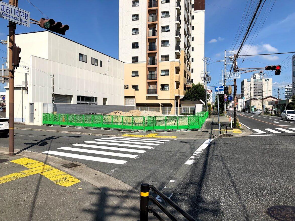 (仮称)加古川マンションギャラリー新築工事の現場