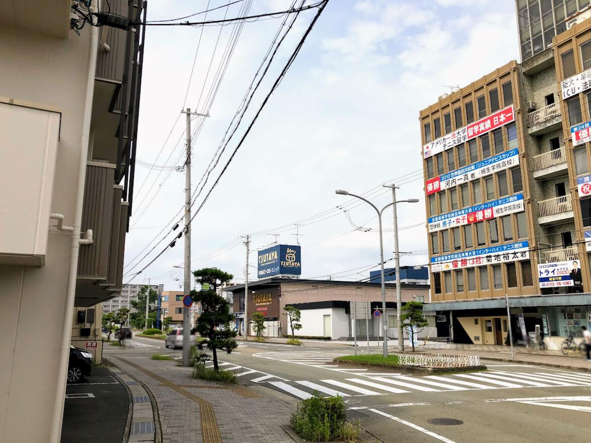 加古川市役所近くのマンションモデルルーム周辺