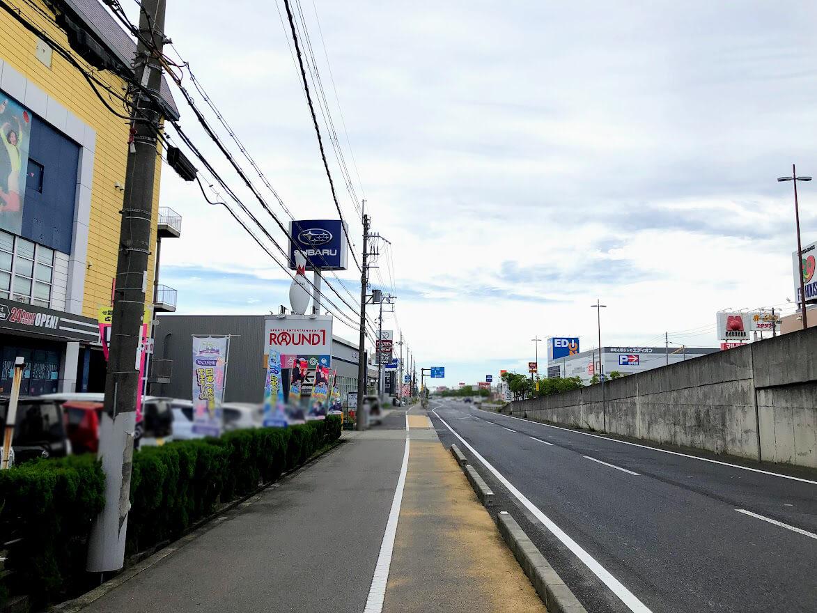 明姫幹線東行き側道