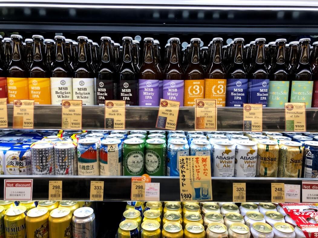 ヤマダストアー北野店のMilestone Brewing 東加古川醸造所のクラフトビール