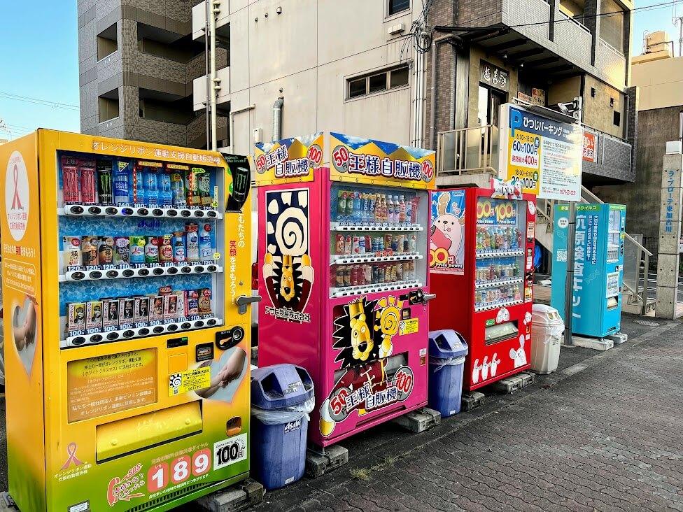 ひつじパーキングの自販機