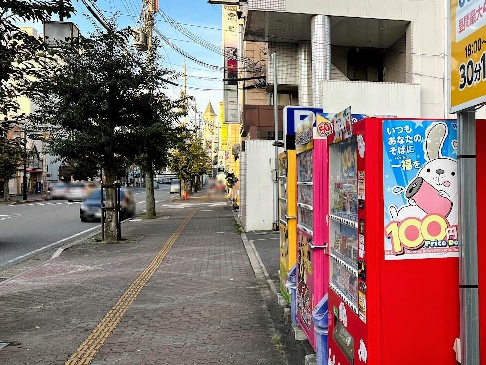 ひつじパーキングから東加古川駅側を見たところ