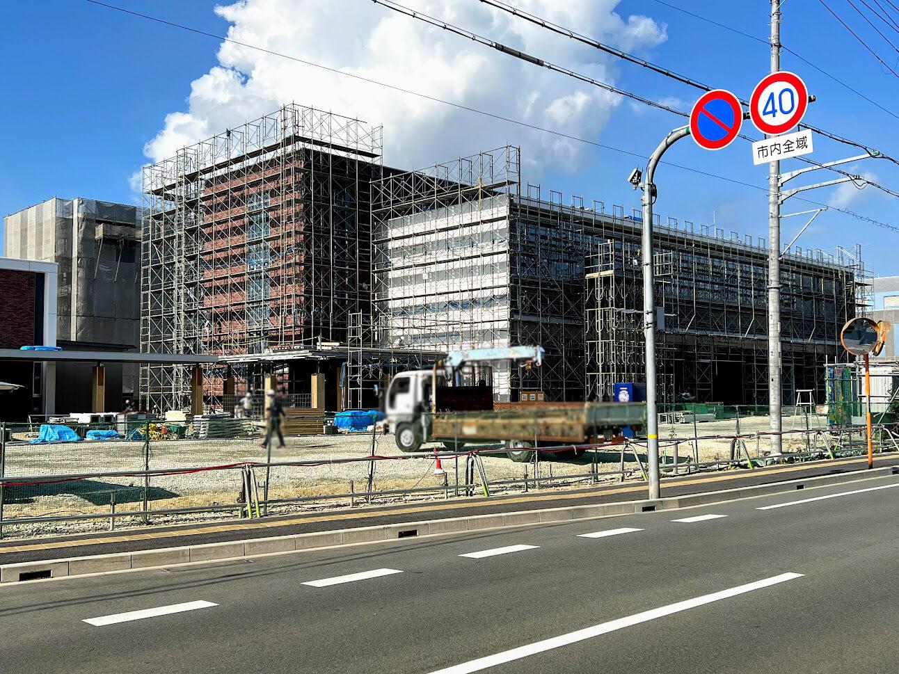 加古川東消防署工事の様子